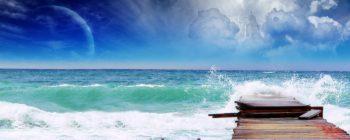 دو مانیتوره اسکله و دریا