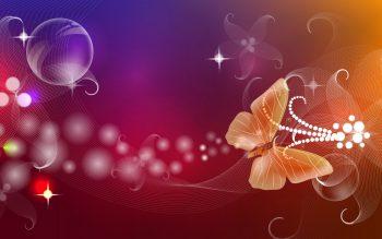 طرح انتزاعی با کیفیت رنگارنگ پروانه