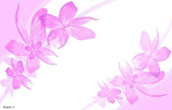 گل و بوته صورتی
