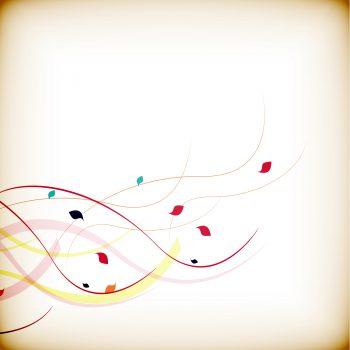 گل و بوته با خطوط رنگی