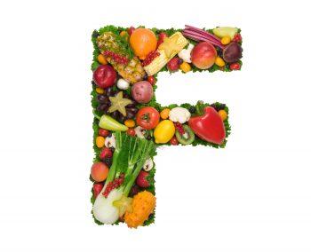 نوشتن حروف با سبزیجات