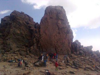 سنگ محراب در کوه سبلان