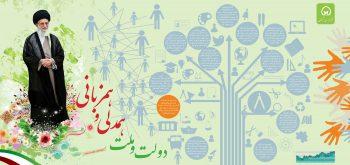 اینفوگرافی شعار سال 94 - دولت و ملت همدلی و همزبانی