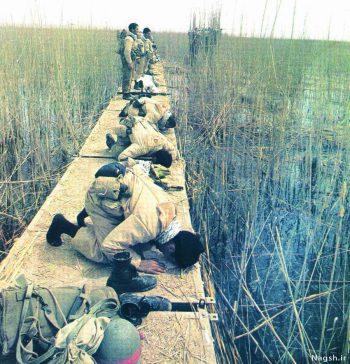 نماز بسیجیان جنگ