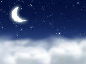 ماه و ستاره های شب
