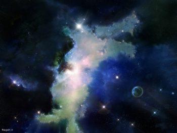 عکس ماهواره ای از آسمان شب