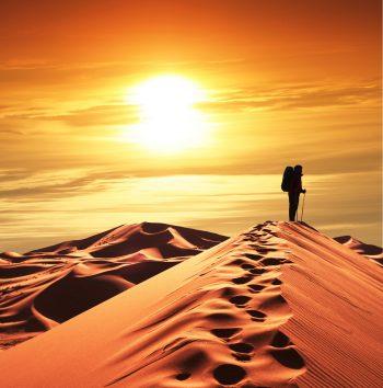 در غروب آفتاب