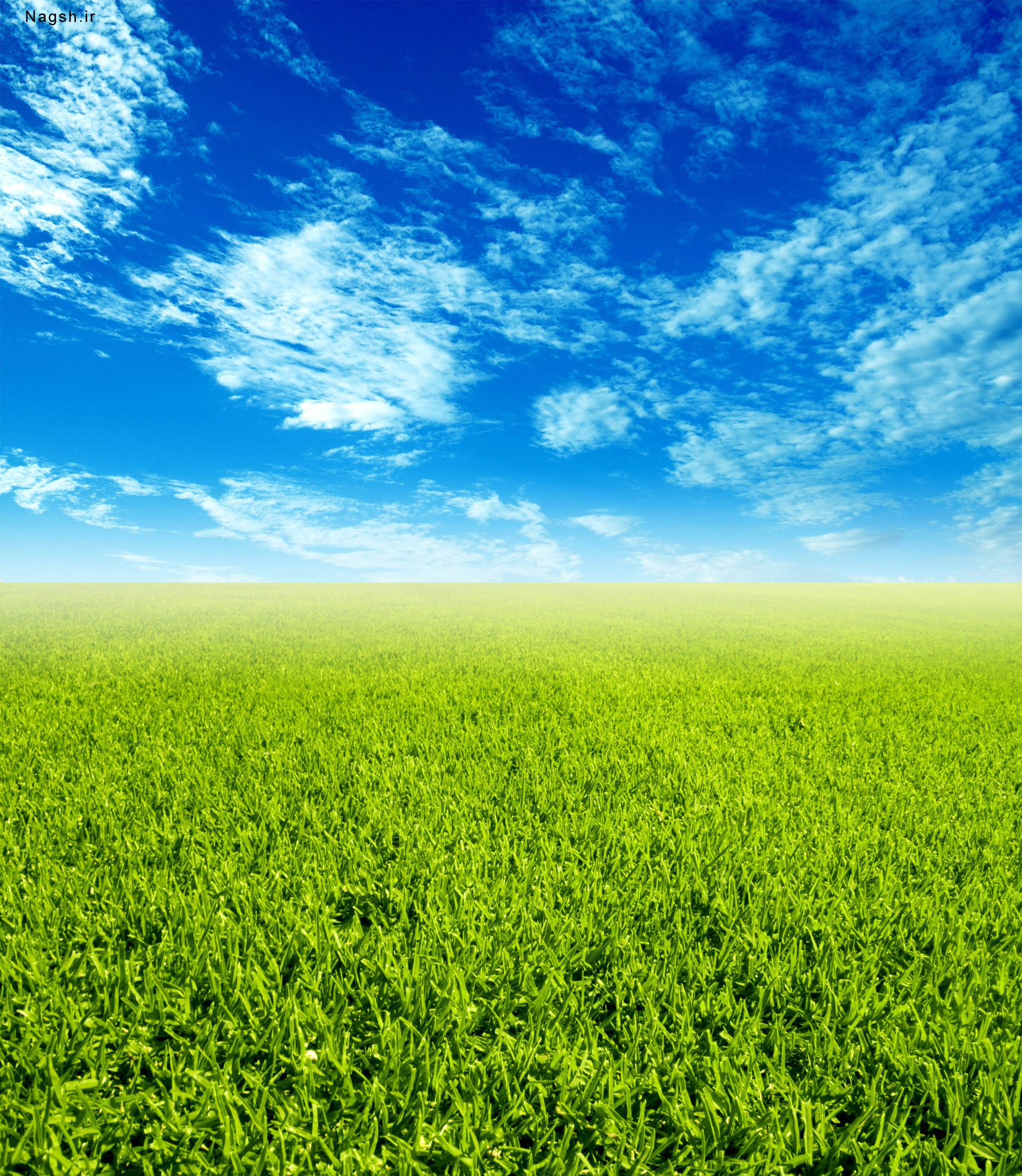 زمین سبز و آسمان آبی