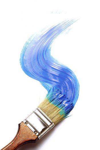حرکت قلمو رنگی بر روی صفحه
