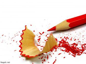 مداد رنگی تراش شده