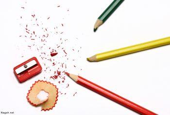 تراش و مداد رنگی ها