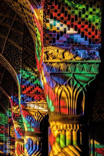 ستون مسجد نصیرالملک شیراز