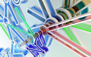 طرح انتزاعی با کیفیت رنگارنگ