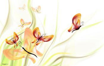 پوستر گل و بوته رنگی