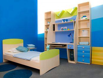 اتاق خواب آبی کودک