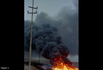 شهر در دود و آتش