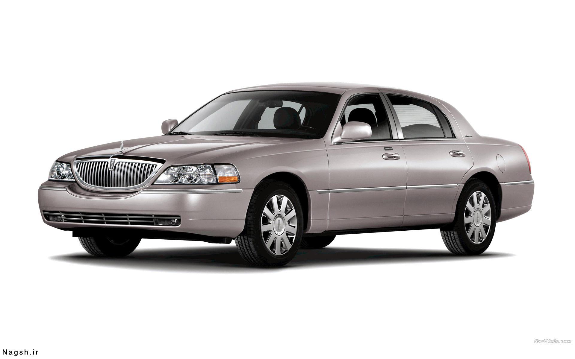 تصویر بک گراند سفید ماشین لینکولین