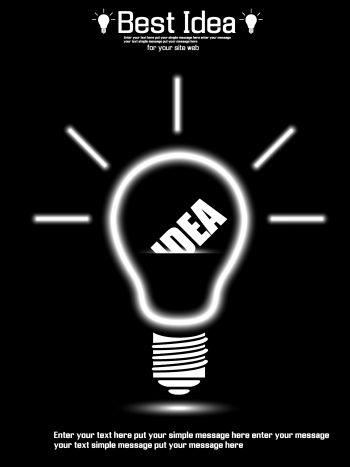 وکتور لامپ و ایده