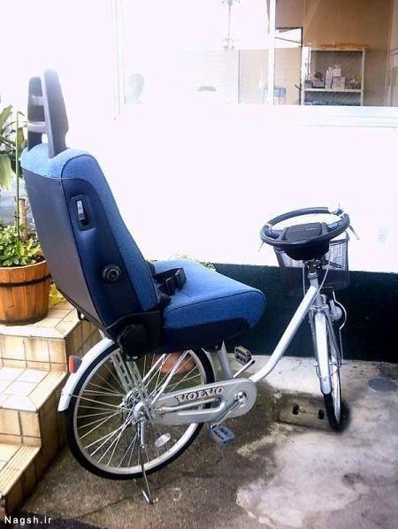 دوچرخه ماشینی یا ماشین دوچرخه ای!