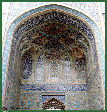 هنر سنتی در ایران و باستان (مهروق حرم مطهر در نیشابور - ایران)