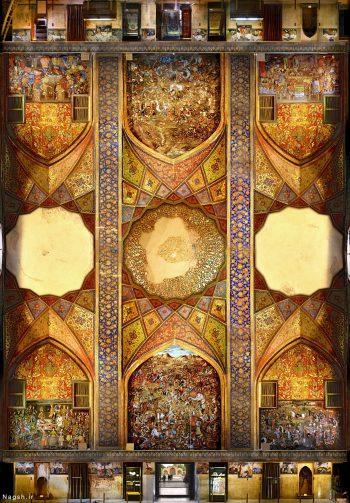 نمای کامل چهل ستون در یک عکس