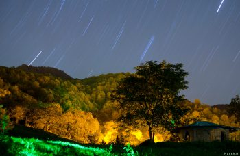 عکاسی در شب . عکس شبانه روستای اوزود - مازندران