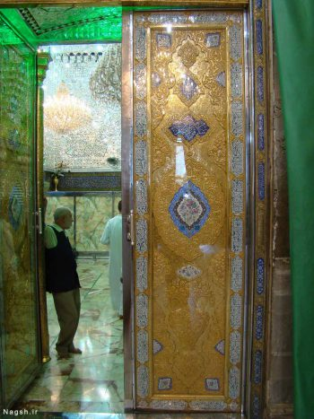 تصویر درب ضریح امام جواد