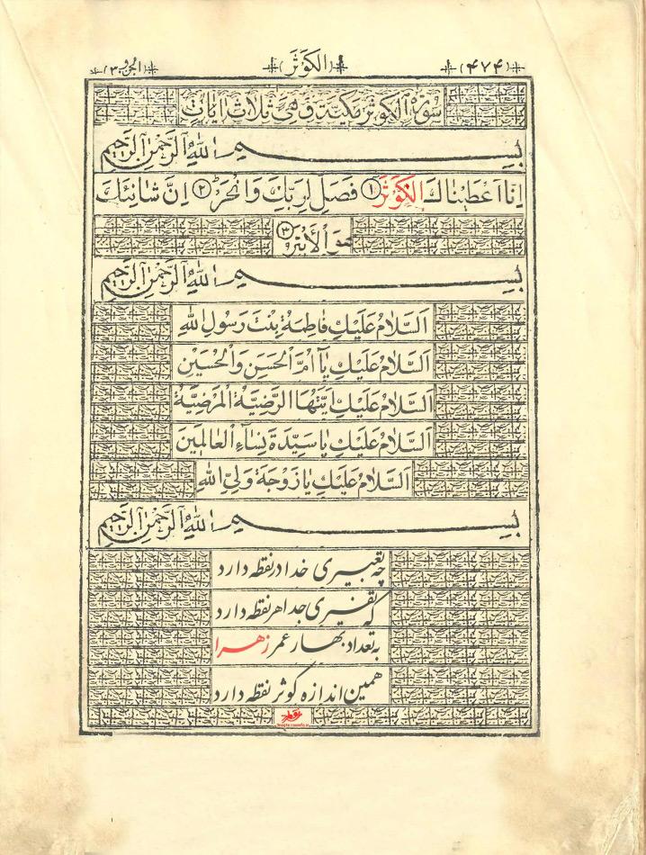 صفحه از یک قرآن قدیمی