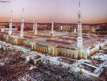 تصویر مسجدالنبی از بالا