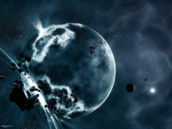 عکس ماهواره ای از ماه