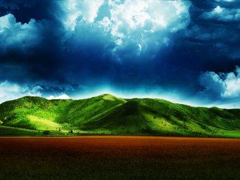آبی آسمان و زمین سبز