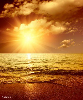 غروب دریا