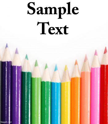 مداد رنگی ها